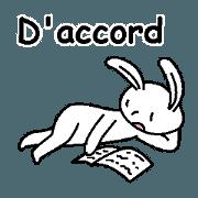 (法語)愛理不理的兔
