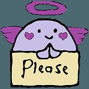 Cute purple Anglov