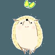 Stamps of a hedgehog Haribo