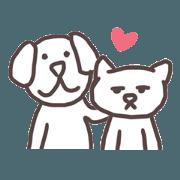 Dog and cat (Minimal Style)