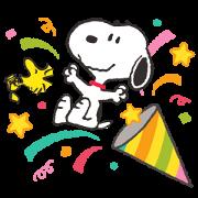 Snoopy 冬季萬用全螢幕貼圖
