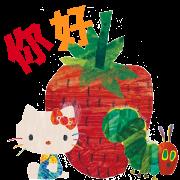Hello Kitty×好餓的毛毛蟲