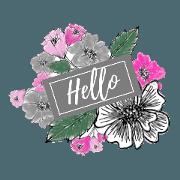 Basic Color Flower sticker