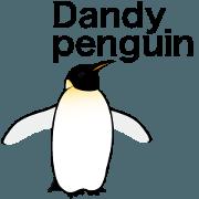 Dandy penguin's sticker in English