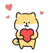 loose shibainu love sticker...