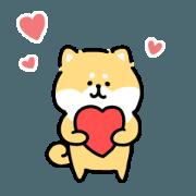 loose shibainu love sticker(for Taiwan)