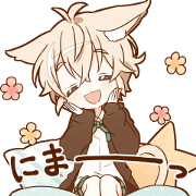 UGOKU NEKOMIMI boy sticker