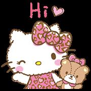 4900 - 英文凱蒂貓女孩風動態貼圖♪ line貼圖