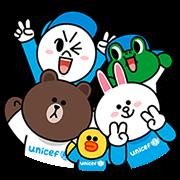 LINE X 聯合國兒童基金會特别版貼圖