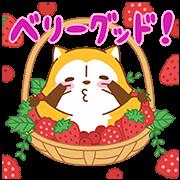 水果風味小浣熊☆全螢幕貼圖