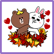 LINE Characters' Autumn Stickers