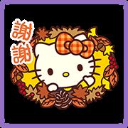 Hello Kitty 秋季貼圖