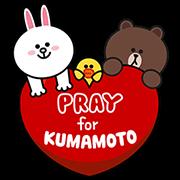 熊本地震賑災貼圖