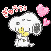 スヌーピー☆ふんわり可愛いクレヨンタッチ